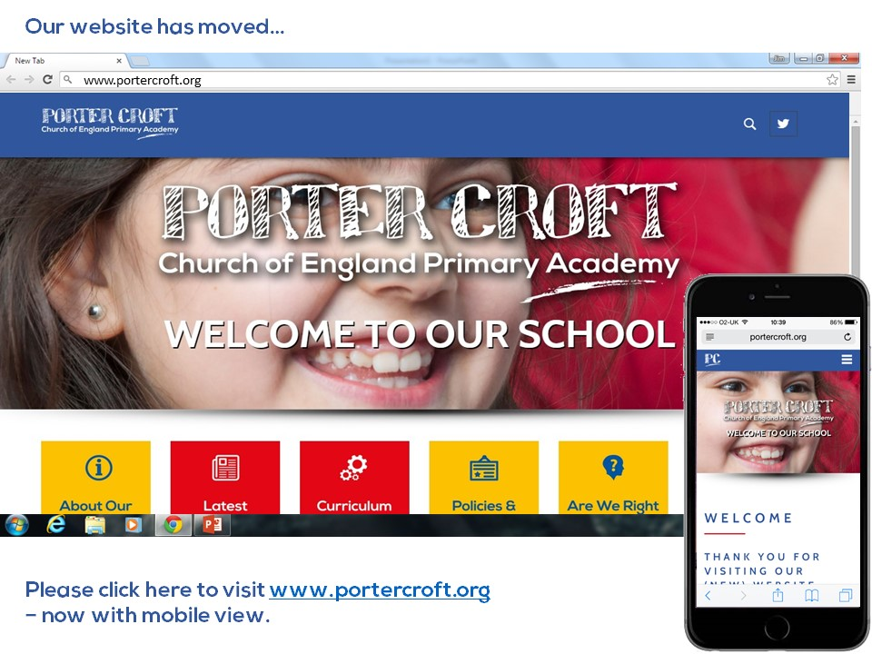Our website has moved -- click here to visit our website - www.portercroft.org